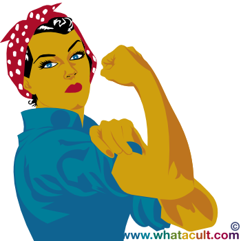 Rosie the Riveter - published on Facebook for International Women's day