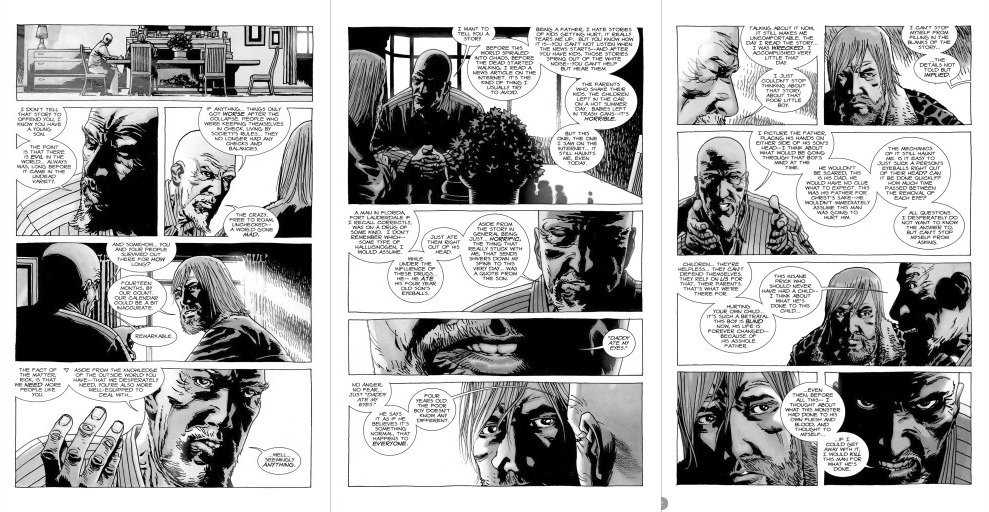 "Scene from ""The Walking Dead"" comic"