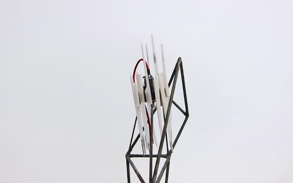 "Billie / Brighton 2012 lighting sculpture, 16cm x 20cm x 95cm    Project inspired by jazz legend Billie Holiday    ""Billie Holiday's burned voice   had as many shadows as lights,   a mournful candelabra against a sleek piano,   the gardenia her signature under that ruined face."" - Rita Dove, poet"