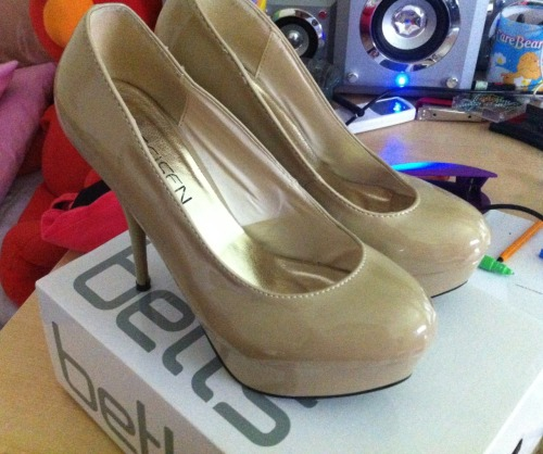 Nude Patent Leather HeelsSize: 37 fits 7Condition: Brand newSelling for: $25