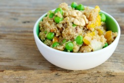 Walnut, Pea and Rosemary Quinoa Salad    (click image for recipe)