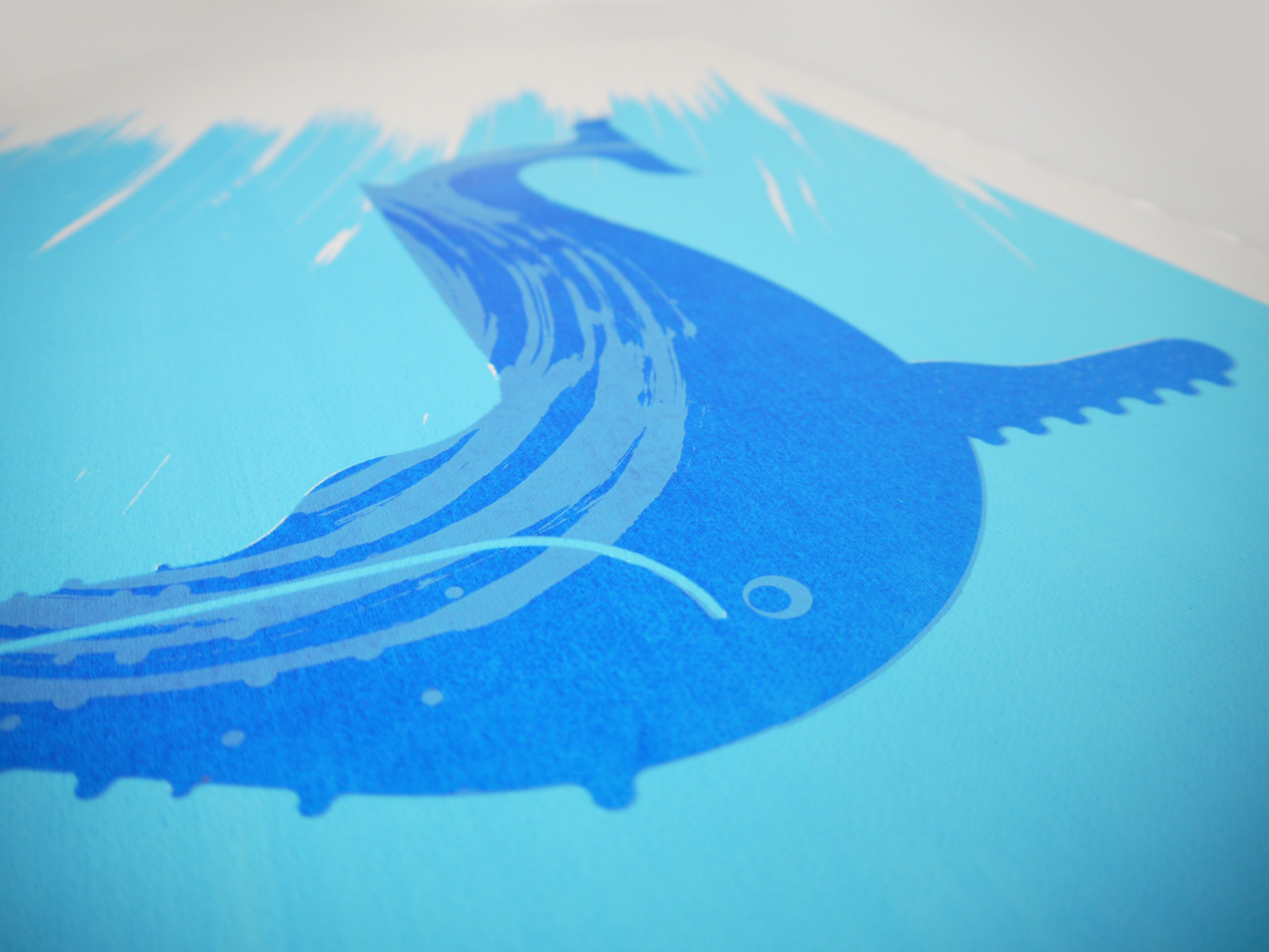 Really excited to see this sneak peak of Alan Dalby's new whale print for our show! http://www.alandalby.co.uk/