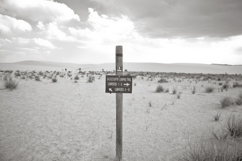 ROAD TRIP image no. 345 Backcountry camping trail, White Sands, NM June 27th, 2011 Mark Peter Drolet + click through to see larger