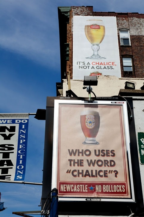 Newcastle Mocks Stella Artois and Its Chalice in New Campaign (via:mirza)