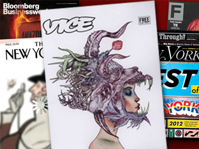 Vice, meet the establishment.  In 2012, Vice is still free, and you can still find it on the floors of record shops, and it still has all of that other stuff, too. But the Brooklyn-based monthly also has something that the Vice of the early 2000s probably never would have envisioned in its wildest dreams (or worst nightmares): A chance at beating The New Yorker (and New York, and GQ and Bloomberg Businessweek) in this year's National Magazine Awards. Vice, meet The Establishment. Of course, the two are already well acquainted.