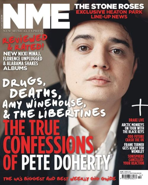 In This Week's NME…  Pete Doherty has broken his silence – the Libertine is on the cover of the new issue of NME, and inside is possibly his most revealing interview yet. Having not given a big music mag interview for years, he talks about the future of the Libs, reveals his surprising new solo album plan and opens up about the death of his friend Amy Winehouse. It's the must-read Pete feature of the year. (Read More HERE…)