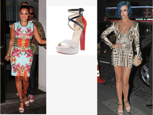 christian louboutin summerissima crisscross platform sandal ($995) This is a great summer shoe that can be paired with an array of outfits. Start saving your pennies girls because this shoe is a must have for the season!!! -Britney B