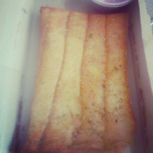 Pizza hut got some good azz bread sticks!! <3 (Taken with instagram)