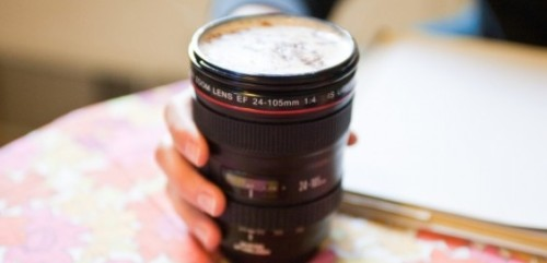 Camera Lens Coffee Cup. #upcycle