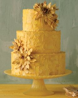 Golden color palette with oven-dried piped meringue petals….