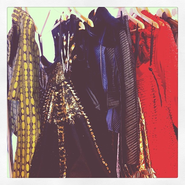 A full rack of Fyodor Golan goodness today on press day. (Taken with instagram)