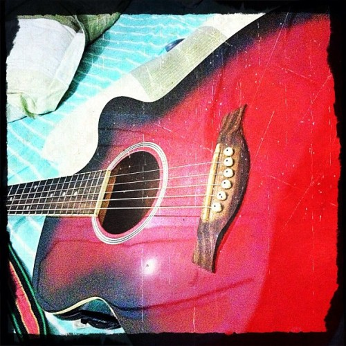 This #guitar has been with me for seven years already. Lots of songs we made, and lots of important moments in my life it has witnessed. And i only thought of taking a picture of it just now. Never too late, though. #iphone #iphone4s #iphoneography #iphoneonly #iphoneasia #ig #igersmanila #pinoyigers #cameraplus #guitar #music #instrument #instagramhub #pixlromatic (Taken with instagram)