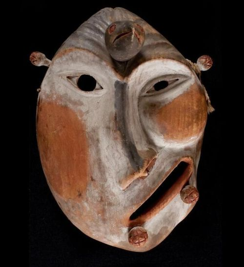 muirgilsdream:  Humanoid Yup'ik mask  Yup'ik, Alaska. Mouth of Yukon River, received 1938.