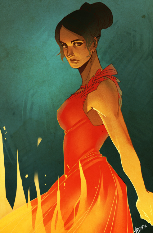 nogutsnoglory:  girl on fire