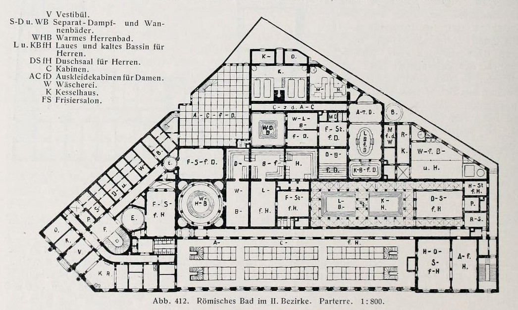 Floorplan of the Roman Baths, Vienna