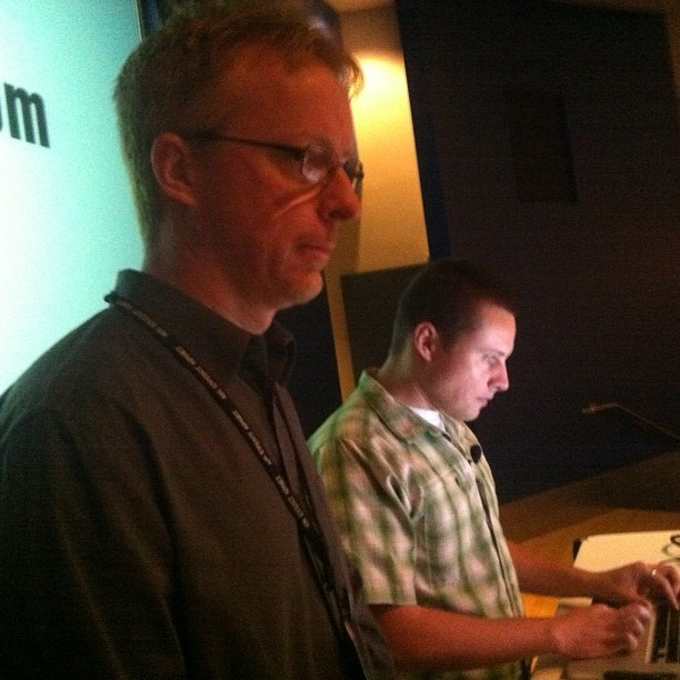 Dynamic duo: @meyerweb and @lukew (Taken with Instagram at An Event Apart)