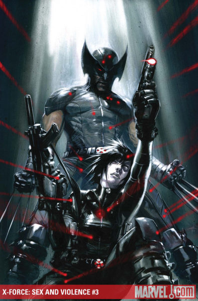 X-Force: Sex And Violence #3 cover b  gabriele dell'otto  PS: I love Domino :D