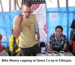 That's Mike, our Quality Control guy, in Ethiopia.  He wrote an article too! Scope it here.