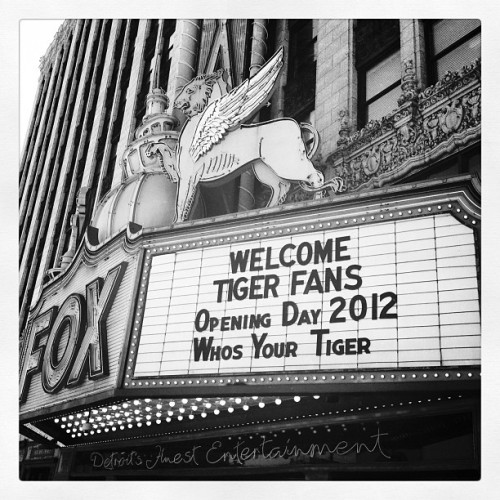 fotojay:  #detroit #tigers #baseball (Taken with Instagram at Fox Theatre)