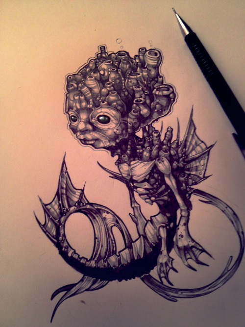 furrenchie:  Seahorse by ~telegrafixs  This is fucking fantastic