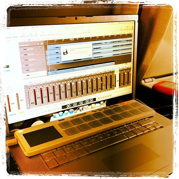 In the quiet carriage on the way to London and I'm mixing/producing a four piece nu metal track - winning (Taken with instagram)