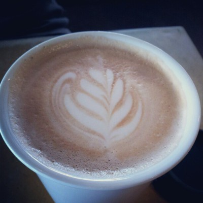 #latteart by #lattedude at @BixbyGrind!  (Taken with Instagram at It's A Grind Coffee House - Atlantic Ave)