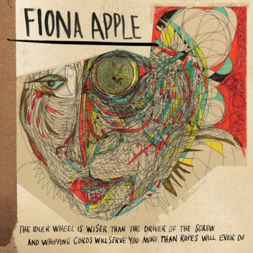 Here is Fiona Apple's very unusual new Album cover. That sentence at the bottom is actually the name of the album, and not just an endorsement for Whipping Cords. Fun Fact: There are 22 words in the title of the album and only 16 words in the titles of all the songs on the album combined (6 of the 10 songs have one word titles). See the track list and get more info here. Do you think this is cool or over the top and have you ever see an album title that is so long?