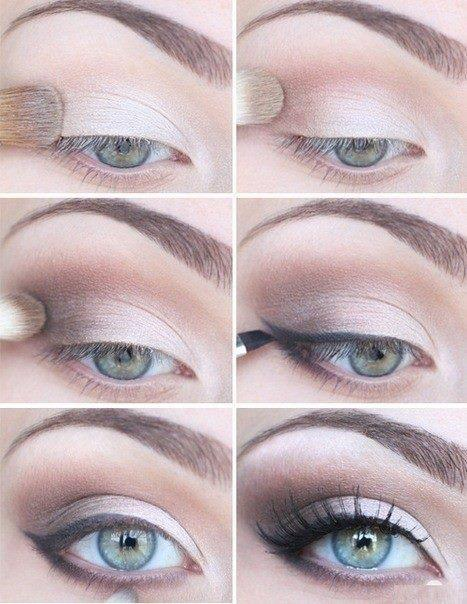 Great eyes for the day! Light with some dark highlights with a sleek eye line. Her eyes pop and the colours bring out her blue, glazy, beautiful eyes.