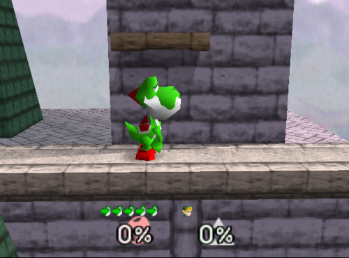 I love Yoshi's face when he eats someone in SSB