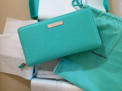 Birthday present. Tiffany leather wallet