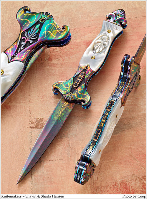redfruitwhiteseeds:  art-of-swords:  Hand-made Knives Knifemaker: Don Hanson III (1st picture) | Shaun & Sharla Hanson (2nd picture) | Owen Wood (3rd picture) Source: Blade Forums  oh………….wow  i would like one Shaun & Sharla Hanson please