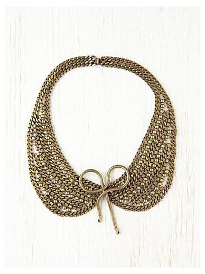 Add a quirky-cute touch to your spring look with a stylish collar necklace, like this bow-adorned piece from Dannijo. Check out more top picks here » freepeople.com