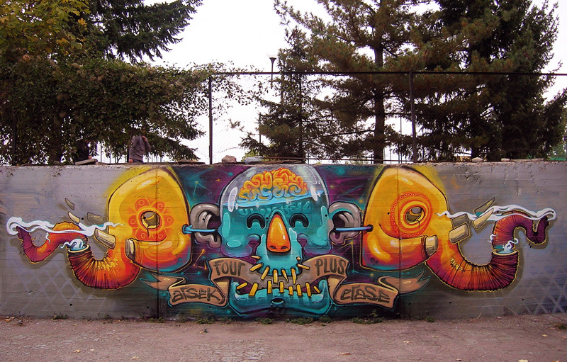Arsek & Erase in Sofia Bulgaria.