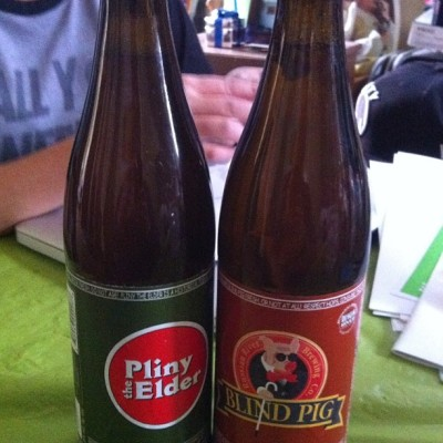 Two Uncommon Craft Beers #foodoofus #beerporn #craftbeers #plinytheelder #blindpig #beers #russianriverbrewing (Taken with Instagram at Whole Foods Market)