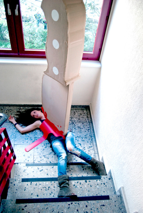 laughingsquid:  The Knife, A Giant Bloody Cardboard Knife Art Project by Maria Luján  HAH!