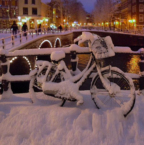 "kateoplis:  ""Copenhagen, a city of 1.2 million people [the bicycle-friendliest place on the planet], saves $357 million a year on health costs because something like 80 percent of its population commutes by bicycle, even in winter. That's $300 per person per year.  Clearly, the reason the new Danish minister of the interior said she'd 'rather invest in cycle tracks than freeways,' is that only one of those has a positive return."" [photo: Ben] From Copenhagen's biannual Bicycle Account 