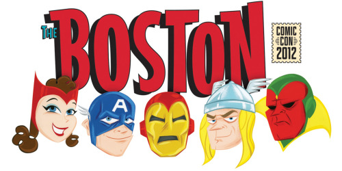 I made some fun Avengers art for the Boston Comic Con exclusive T-Shirt this year! Will be available for purchase at the show! Woohoo!