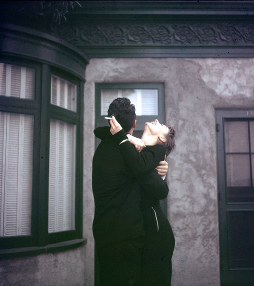 audreyandmarilyn:  Audrey Hepburn and Dean Martin during the filming of Sabrina, 1954.