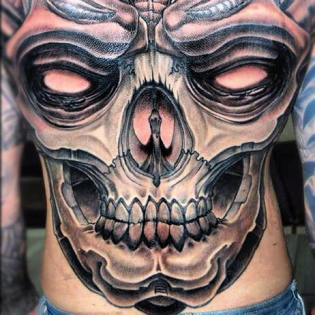 #inked #tattoo of the day #skull #backpiece #tattoos #inkedmag #art  (Taken with instagram)