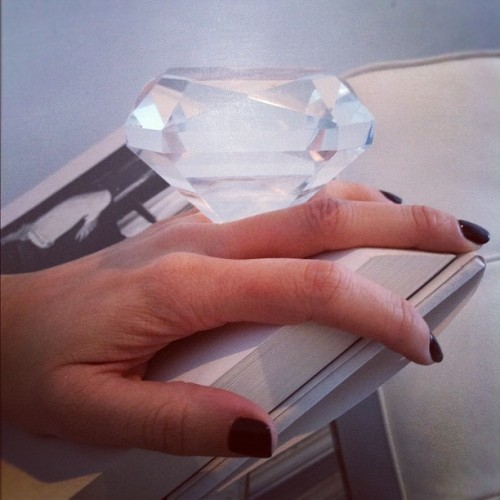 Because size matters. So damn much. Cc @purseblog #diamonds #goals #veryimportantthings (Taken with instagram)