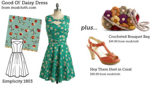 (via Make This Look: Good Ol' Daisy Dress | The Sew Weekly - Sewing & Vintage Lifestyle)