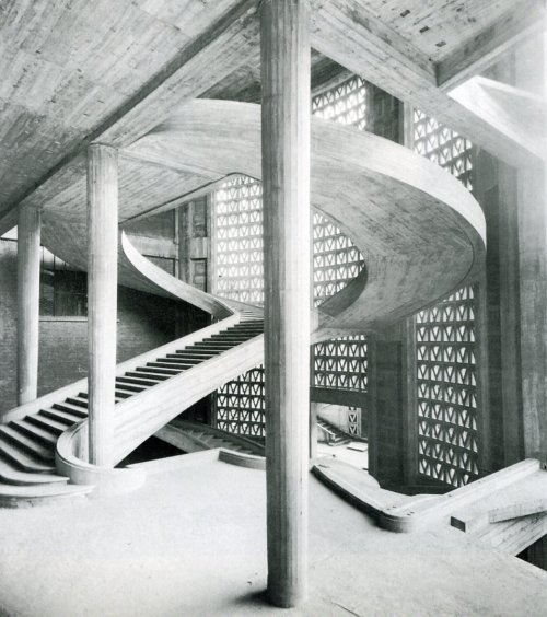 architectureofdoom:  Musee des Travaux Publics, Auguste Perret, Paris, 1936-46
