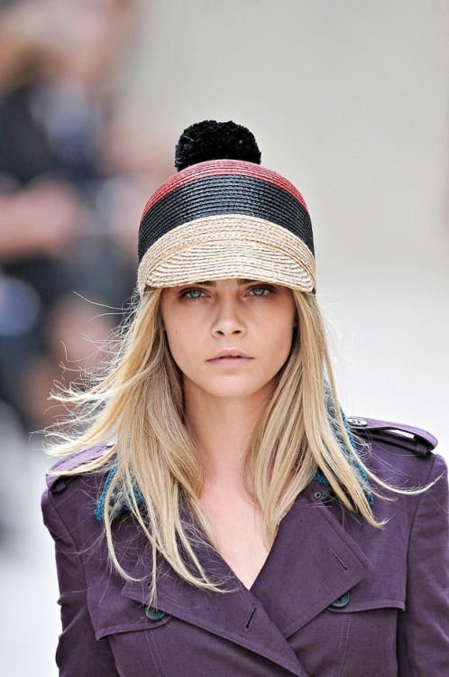 Raffia Pom Pom Hat Head candy was plentiful at this season's runway shows, and this item from Burberry is my favorite. The Brits don't mess around when it comes to fancy-fuck hats and the pom pom on this one keeps the seriousness to a minimum.