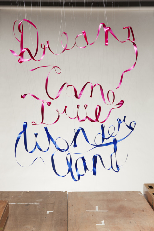 [Diary] Ribbon Typography for DREAMS COME TRUE WONDERLAND