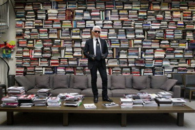 I would friggin' kill for Lagerfeld's library.