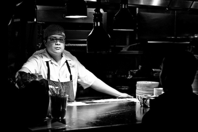 "Getting Drunk with Dale Talde  Chef Dale Talde is the ""dope fat kid"" behind the Brooklyn restaurant Talde. We hung out with the formerTop Chef contestant, and visited his favorite Itallian restaurant in Flatbush, Brookyn during our latest episode of Munchies. After the shoot, we asked Dale which chefs he'd like to get wasted with the most. This is what he had to say: • Brian Ray, Buddakan – I worked with Brian at Buddakan. We're such good friends. The dude can really drink. When we're boozing, we come up with so many ideas of what to put on my menu. • David Koon and Jamison Blankenship, Chuko – We came up together as sous chefs at Morimoto. We're just great old friends and always have fun together. • Carrie Nahabedian, Naha – I'm from Chicago, and Carrie and her cousin, Michael, are two of the best people in the hospitality business. She's been an absolute mentor to me as well. Plus, she makes her vodka lemonades with Meyer lemons! • Marco Pierre White – I want old school Marco Pierre White. I want to drink with the dude that was making Gordon Ramsay beat people up he didn't like. Also, the food he was doing back in the day really set the standard and laid the foundation for what so many people are doing now. • Chris Rendell, Whitehall – After a bottle of vodka, he's got some sweet dance moves. I'm talking about Kevin Bacon Footloose, sliding across the floor on your knees, dance moves. No fucking joke. Watch Dale's Munchies episode. Stay tuned for more fun tidbits from the chefs from the new season of Munchies chefs."
