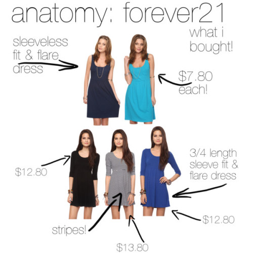 Breakdown of what I bought and why from Forever21. (via Lovely At Your Side: Anatomy of What I Bought: Forever21)