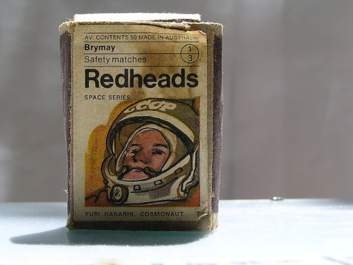 Yuri's Night: celebrating 51 years in space Yuri Gagarin safety matches :: via flickr.com