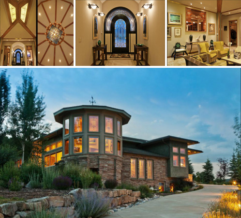 Located in Park City, UT, the 4,840 square foot house has an abundance of beautifully designed features. The reason this house is so appealing arises from the interesting blend of Art Deco lines and modernity with Craftsman details, especially in the abundance of decorated glass.