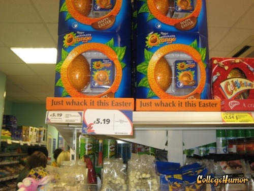 This easter, don't forget to whack your chocolate orange?